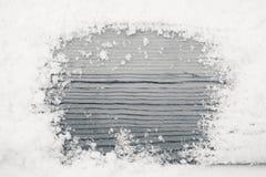Η ξύλινη σύσταση στο χιόνι, γραπτό Στοκ φωτογραφίες με δικαίωμα ελεύθερης χρήσης