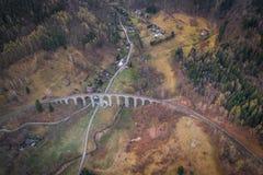 Η οδογέφυρα σιδηροδρόμων στοκ φωτογραφία