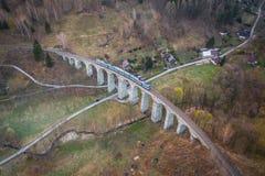 Η οδογέφυρα σιδηροδρόμων στοκ εικόνες με δικαίωμα ελεύθερης χρήσης
