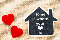Η 'Οικία' είναι όπου η καρδιά σας είναι στοκ φωτογραφία