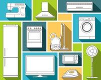 η οικιακή απεικόνιση συσκευών απομόνωσε το καθορισμένο διάνυσμα Στοκ φωτογραφία με δικαίωμα ελεύθερης χρήσης