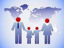 Η οικογένεια και ο κόσμος Στοκ φωτογραφίες με δικαίωμα ελεύθερης χρήσης