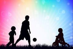 η οικογενειακή εικόνα σχεδίου σκιαγραφεί το σας Στοκ Εικόνα