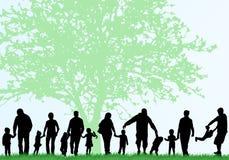 η οικογενειακή εικόνα σχεδίου σκιαγραφεί το σας Στοκ φωτογραφίες με δικαίωμα ελεύθερης χρήσης
