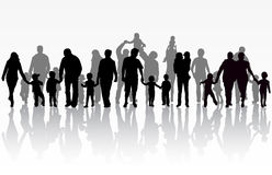 η οικογενειακή εικόνα σχεδίου σκιαγραφεί το σας απεικόνιση αποθεμάτων