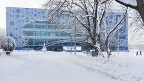 Η οικοδόμηση ενός μεγάλου ενυδρείου - Moskvarium στη Μόσχα Στοκ εικόνα με δικαίωμα ελεύθερης χρήσης
