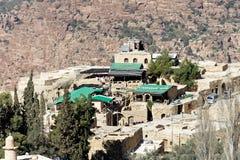 Η οικολογία κατοικεί στην άκρη της κοιλάδας της μεγάλης περιβαλλοντικά προστατευόμενης περιοχής βιόσφαιρας της Dana, Ιορδανία στοκ φωτογραφία