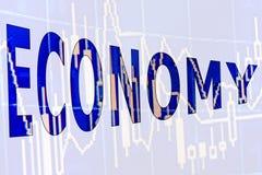 Η οικονομία λέξης Στοκ φωτογραφία με δικαίωμα ελεύθερης χρήσης