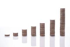 Η οικονομική γραφική παράσταση νομισμάτων χρημάτων έννοιας Στοκ εικόνα με δικαίωμα ελεύθερης χρήσης