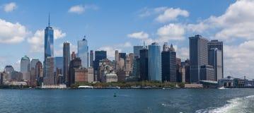 Η οικονομική περιοχή του Μανχάταν πόλεων της Νέας Υόρκης Στοκ Εικόνα