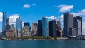 Η οικονομική περιοχή του Μανχάταν πόλεων της Νέας Υόρκης Στοκ φωτογραφία με δικαίωμα ελεύθερης χρήσης