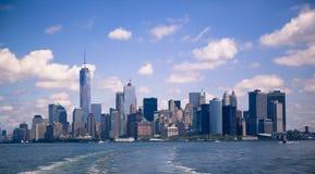 Η οικονομική περιοχή του Μανχάταν πόλεων της Νέας Υόρκης Στοκ Φωτογραφίες
