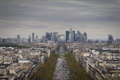 Η οικονομική περιοχή του Παρισιού Στοκ Εικόνες