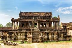 Η οικοδόμηση βιβλιοθήκης σύνθετου Angkor Wat σε Siem συγκεντρώνει, Καμπότζη Στοκ εικόνες με δικαίωμα ελεύθερης χρήσης