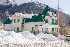 Η οικοδόμηση του πρόσθετου γραφείου; Sberbank 8585/016 της Ρωσίας, που βρίσκεται στη μικρή πόλη του Δ Στοκ εικόνα με δικαίωμα ελεύθερης χρήσης