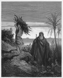 Η δοκιμή της πίστης του Abraham διανυσματική απεικόνιση