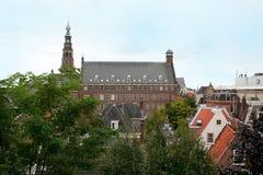 Η ολλανδική πόλη του Λάιντεν Στοκ Εικόνες