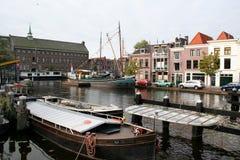 Η ολλανδική πόλη του Λάιντεν Στοκ εικόνα με δικαίωμα ελεύθερης χρήσης