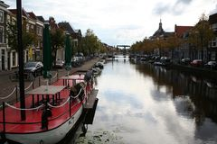 Η ολλανδική πόλη του Λάιντεν Στοκ εικόνες με δικαίωμα ελεύθερης χρήσης