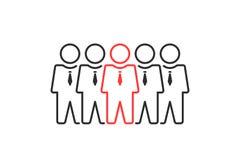 Η ομάδα λεπτών ανθρώπων γραμμών συμπαθεί την ηγεσία ή την ομαδική εργασία Στοκ εικόνες με δικαίωμα ελεύθερης χρήσης