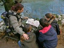 η ομάδα μαθαίνει τον προσ&alph στοκ εικόνα