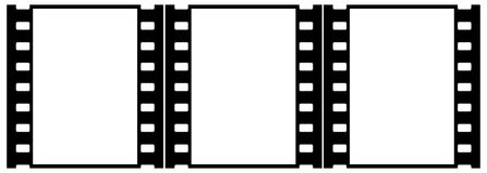 η ομάδα πλαισίων ταινιών χρ&omeg Στοκ Φωτογραφίες