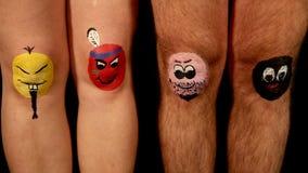 Η ομάδα αστείων χρωματισμένων ποδιών παρουσιάζει ποικιλομορφία φιλμ μικρού μήκους