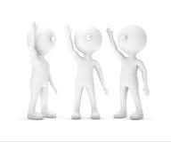 Η ομάδα λευκού επιχειρηματία που αυξάνει το χέρι επάνω, που ψαλιδίζει την πορεία περιλαμβάνει απεικόνιση αποθεμάτων