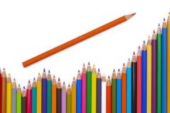 Η ομάδα μολυβιών παρουσιάζει επιτυχία Στοκ εικόνα με δικαίωμα ελεύθερης χρήσης