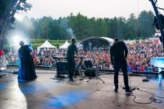 Η ομάδα Maitz Therr αποδίδει στο φεστιβάλ Usadba Jazz Στοκ Εικόνα