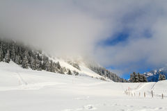 Η ομίχλη στα βουνά Στοκ εικόνες με δικαίωμα ελεύθερης χρήσης