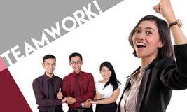 Η ομαδική εργασία για κερδίζει! Στοκ Φωτογραφίες