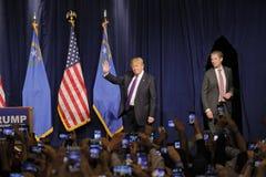 Η ομιλία νίκης του Ντόναλντ Τραμπ μετά από μεγάλο κερδίζει στο διαβούλιο της Νεβάδας, Λας Βέγκας, NV Στοκ φωτογραφίες με δικαίωμα ελεύθερης χρήσης