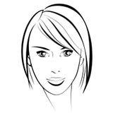 η ομορφιά καλύτερη μετατρέπει την ποιότητα κοριτσιών ακατέργαστη Όμορφο πρόσωπο γυναικών μόδας μελάνι Στοκ Φωτογραφία