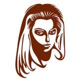 η ομορφιά καλύτερη μετατρέπει την ποιότητα κοριτσιών ακατέργαστη Όμορφο πρόσωπο γυναικών μόδας μελάνι Στοκ φωτογραφίες με δικαίωμα ελεύθερης χρήσης