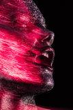 Η ομορφιά με το κόκκινο ακτινοβολεί Στοκ εικόνες με δικαίωμα ελεύθερης χρήσης