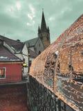 Η ομορφιά της πόλης Transylvanian στο χρόνο Χριστουγέννων, Sibiu - Ρουμανία στοκ εικόνες