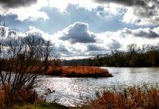 Η ομορφιά του μεγάλου ποταμού Στοκ Φωτογραφία