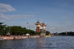 Η ομορφιά του πύργου άποψης Banjarmasin στοκ φωτογραφία