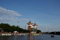 Η ομορφιά του πύργου άποψης Banjarmasin στοκ εικόνες με δικαίωμα ελεύθερης χρήσης