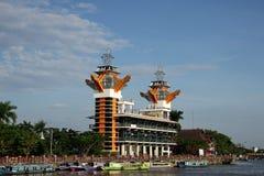 Η ομορφιά του πύργου άποψης Banjarmasin στοκ φωτογραφίες με δικαίωμα ελεύθερης χρήσης