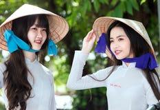 Η ομορφιά των σπουδαστών κοριτσιών στο Βιετνάμ Στοκ Εικόνα