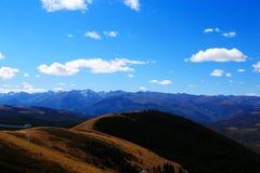 Η ομορφιά φθινοπώρου του οροπέδιου Qinghai Θιβέτ Στοκ φωτογραφία με δικαίωμα ελεύθερης χρήσης