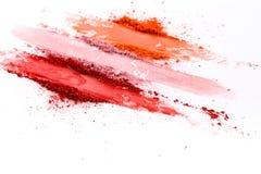 Η ομορφιά, makeup καλλυντικά, κοκκινίζει παλέτα παφλασμών στοκ εικόνα