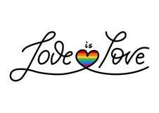 Η ομοφυλοφιλική αγάπη είναι αγάπη Στοκ φωτογραφία με δικαίωμα ελεύθερης χρήσης