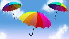 Η ομπρέλα που πετά την τρισδιάστατη απεικόνιση δίνει Στοκ φωτογραφία με δικαίωμα ελεύθερης χρήσης