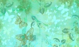 Η ονειροπόλος αφηρημένη πεταλούδα βγάζει φύλλα διανυσματική απεικόνιση