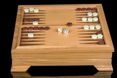 Η οργάνωση επιτραπέζιων παιχνιδιών και το παιχνίδι με χωρίζουν σε τετράγωνα Στοκ Φωτογραφίες
