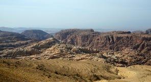 Η ορεινή έκταση στην Ιορδανία Στοκ Φωτογραφία