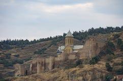 Η Ορθόδοξη Εκκλησία του ST George στο φρούριο Narikala, Tbilisi στοκ φωτογραφία με δικαίωμα ελεύθερης χρήσης
